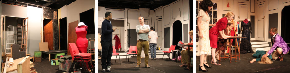 Set-building and rehearsals for Don't Dress for Dinner